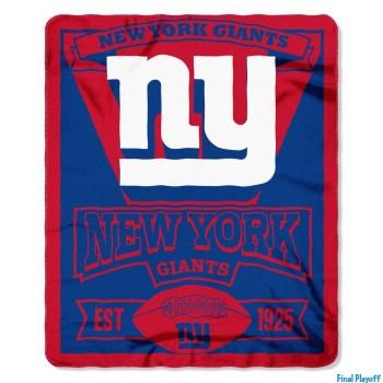 New York Giants fleece throw blanket   Final Playoff