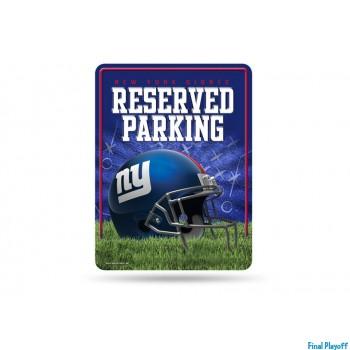 New York Giants metal parking sign   Final Playoff