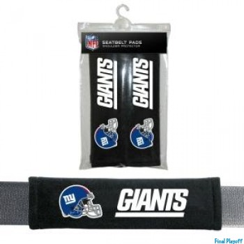 New York Giants seat belt pads | Final Playoff
