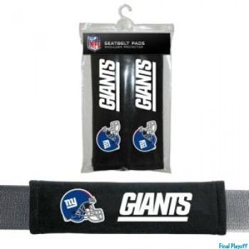 New York Giants seat belt pads | Final Playoff