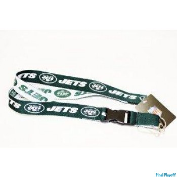 New York Jets lanyard keychain detachable 2 tone | Final Playoff