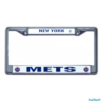 New York Mets license plate frame holder | Final Playoff