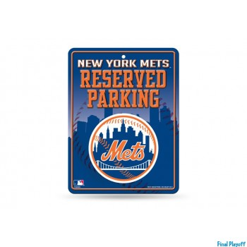 New York Mets metal parking sign | Final Playoff