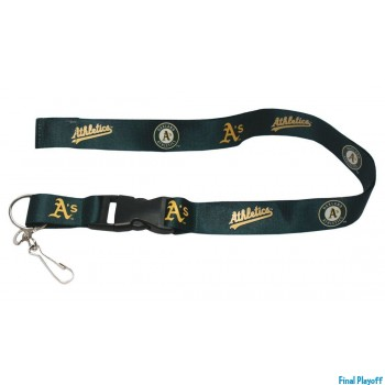 Oakland Athletics lanyard keychain detachable | Final Playoff