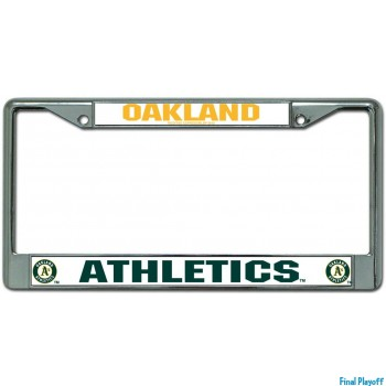Oakland Athletics license plate frame holder | Final Playoff