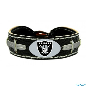 Oakland Raiders leather bracelet black | Final Playoff