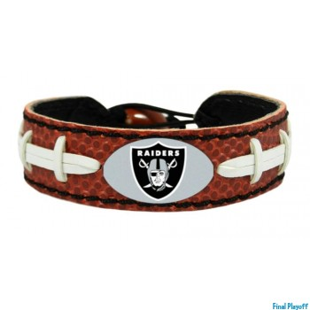 Oakland Raiders leather bracelet classic | Final Playoff