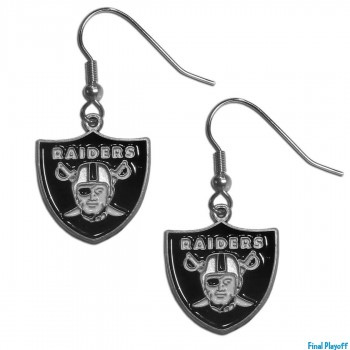 Oakland Raiders dangle earrings | Final Playoff