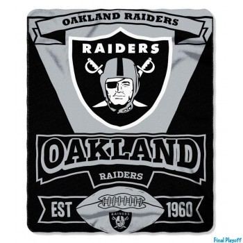 Oakland Raiders fleece throw blanket | Final Playoff