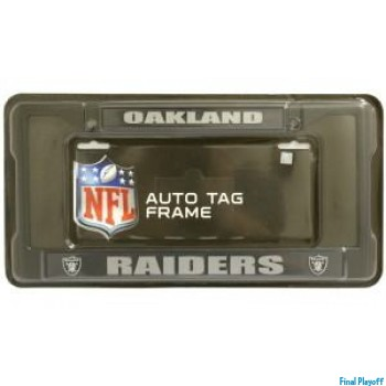 Oakland Raiders license plate frame holder black | Final Playoff