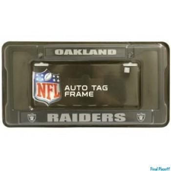 Oakland Raiders license plate frame holder black | Final Playoff