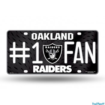 Oakland Raiders metal license plate | Final Playoff