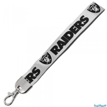 Oakland Raiders wristlet lanyard lobster clasp | Final Playoff