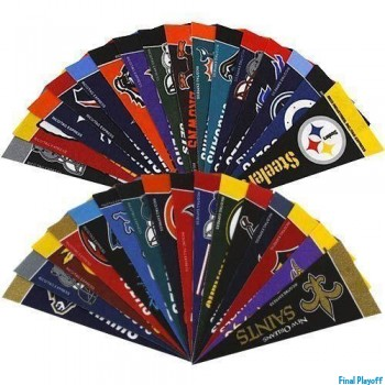 Officially Licensed NFL Mini Pennant Set 32pc | Final Playoff