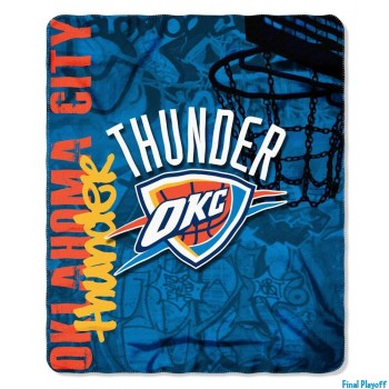 Oklahoma City Thunder fleece throw blanket | Final Playoff