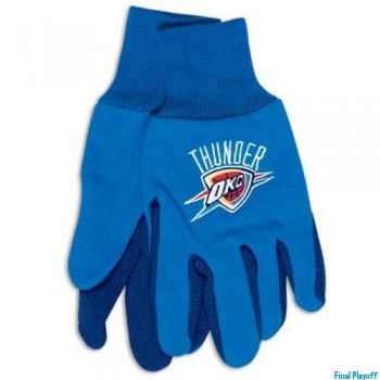 Oklahoma City Thunder two tone utility gloves | Final Playoff