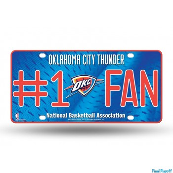 Oklahoma City Thunder metal license plate | Final Playoff