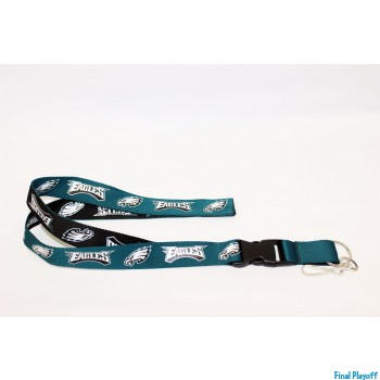 Philadelphia Eagles lanyard keychain detachable 2 tone | Final Playoff