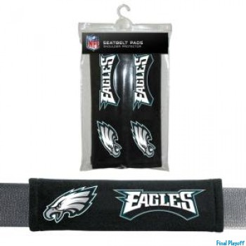 Philadelphia Eagles seat belt pads | Final Playoff