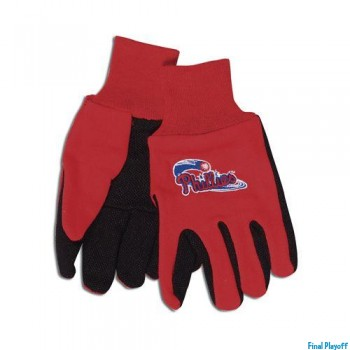 Philadelphia Phillies two tone utility gloves | Final Playoff