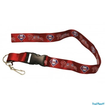 Philadelphia Phillies lanyard keychain detachable | Final Playoff
