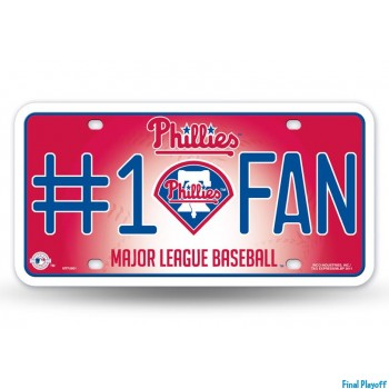 Philadelphia Phillies metal license plate | Final Playoff