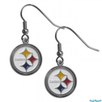 Pittsburgh Steelers dangle earrings | Final Playoff