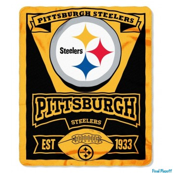Pittsburgh Steelers fleece throw blanket | Final Playoff