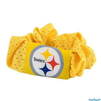 Pittsburgh Steelers hair scrunchie yellow | Final Playoff