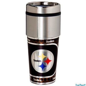 Pittsburgh Steelers travel mug tumbler | Final Playoff