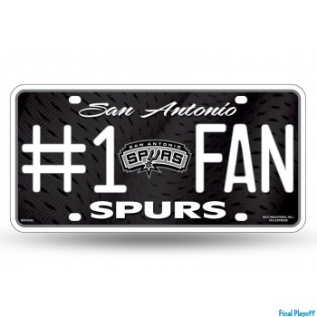 San Antonio Spurs metal license plate | Final Playoff