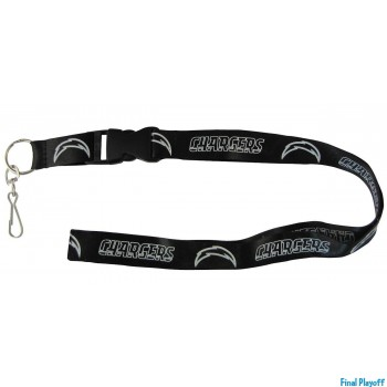 San Diego Chargers lanyard keychain detachable black | Final Playoff
