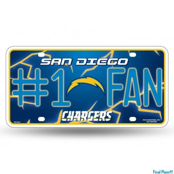 San Diego Chargers metal license plate | Final Playoff