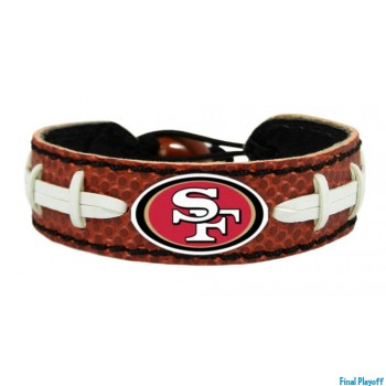 San Francisco 49ers leather bracelet | Final Playoff