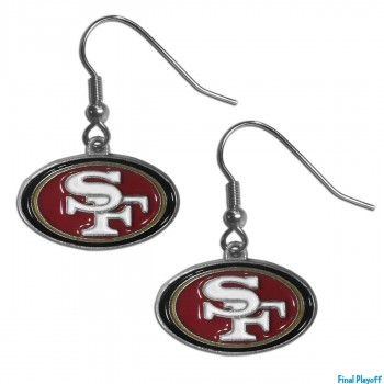 San Francisco 49ers dangle earrings | Final Playoff