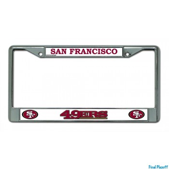 San Francisco 49ers license plate frame holder | Final Playoff