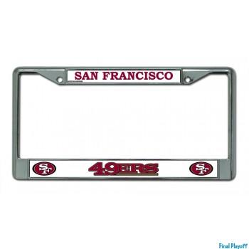 San Francisco 49ers license plate frame holder | Final Playoff