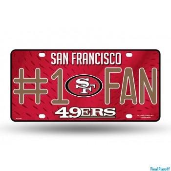 San Francisco 49ers metal license plate | Final Playoff