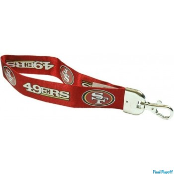 San Francisco 49ers wristlet lanyard lobster clasp | Final Playoff