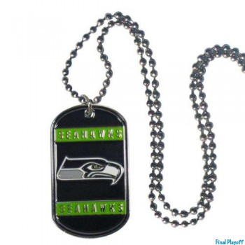 Seattle Seahawks dog tag necklace | Final Playoff