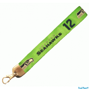 Seattle Seahawks wristlet lanyard 12th lobster clasp | Final Playoff