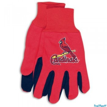 St. Louis Cardinals two tone utility gloves | Final Playoff