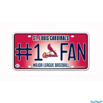 st louis cardinals metal license plate