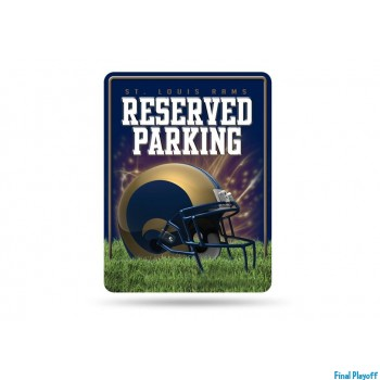 St. Louis Rams metal parking sign | Final Playoff