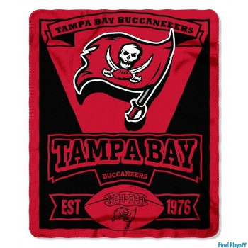 Tampa Bay Buccaneers fleece throw blanket | Final Playoff