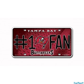 Tampa Bay Buccaneers metal license plate | Final Playoff