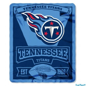 Tennessee Titans fleece throw blanket | Final Playoff