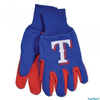 Texas Rangers two tone utility gloves | Final Playoff