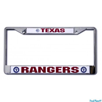 Texas Rangers license plate frame holder | Final Playoff