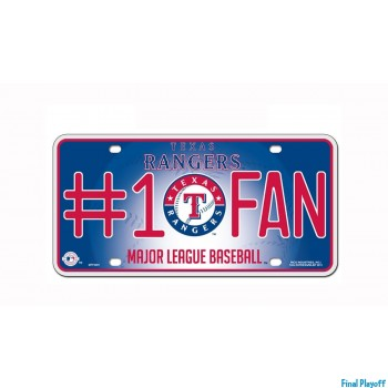 Texas Rangers metal license plate | Final Playoff